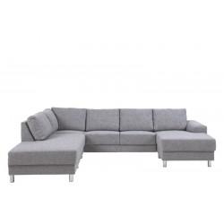 Amanda 3 personers sofa i sort læder