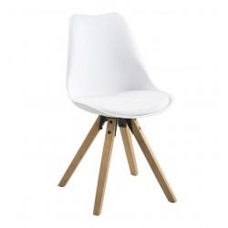 Holbæk spisebordsstol - Hvid/Oliebehandlet